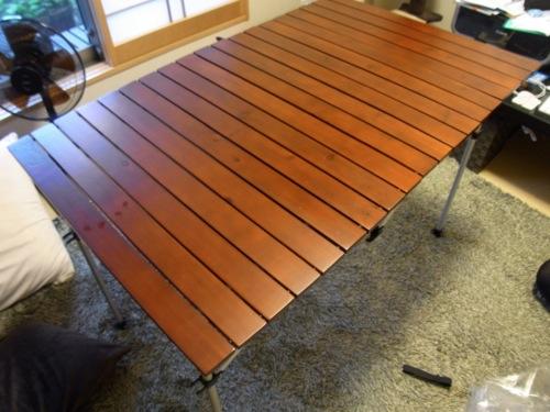 コールマンファミリーセール2012 戦利品 ウッドロール 2ステージテーブル / 110