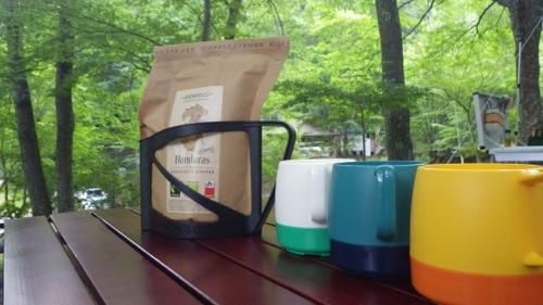 西沢渓谷 笛吹小屋キャンプ場 2日目 コーヒー