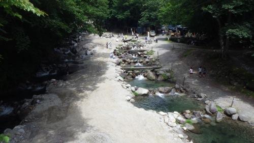 西沢渓谷 笛吹小屋キャンプ場 2日目 釣り